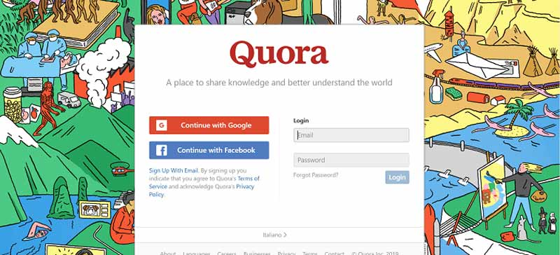 How to find free direct referrals: Quora