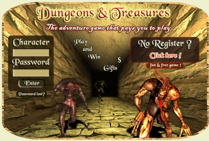 How to make money online and how to get free referrals with Dungeons & Treasures