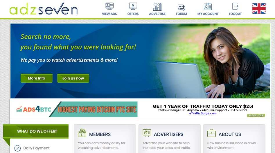 Making money with Adzseven: full review  What is Adzseven