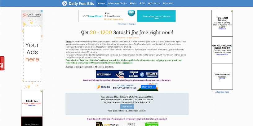 Making money with Daily Free Bits: full review  What is Daily Free
