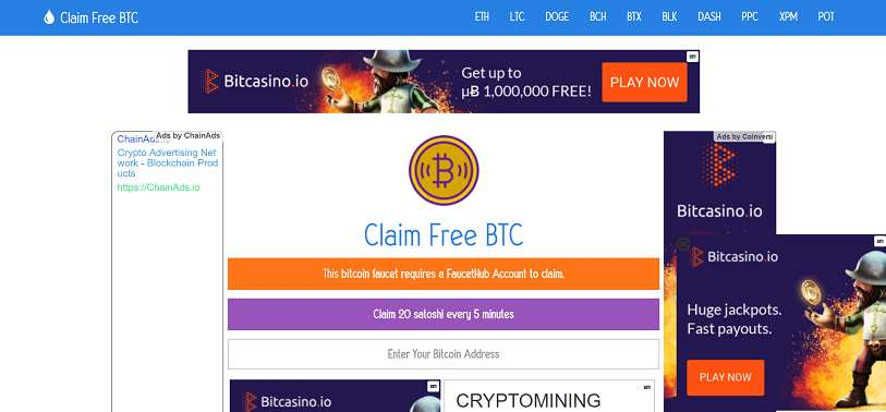 Making money with Claim Free BTC: full review  What is Claim